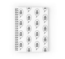 Speak Volumes Silently Spiral Notebook