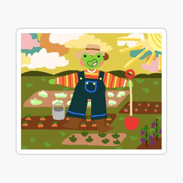frog farmer Sticker