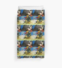 Curly Coated Retriever Art- One Eyed Jacks Movie Poster Duvet Cover