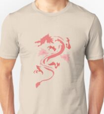 Fire Breathing Dragon - pink T-Shirt