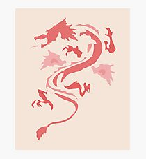 Fire Breathing Dragon - pink Photographic Print