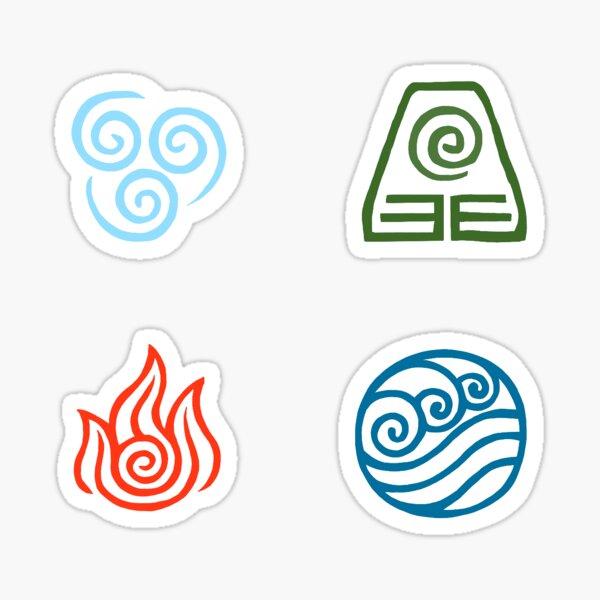 The Avatar Elements Sticker