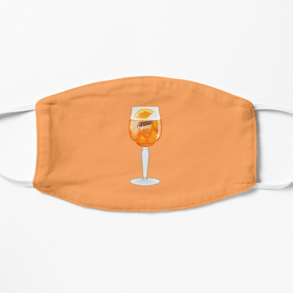 Aperol Spritz in a Glass Mask