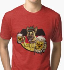 Oktoberfest German Beer Hound Tri-blend T-Shirt