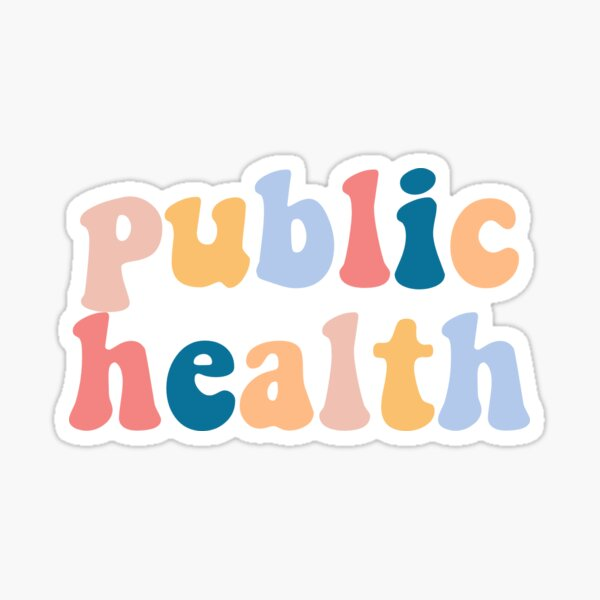 public health Sticker