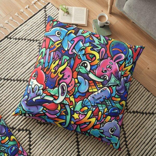 I M A G I N A T I O N // Copic Marker Doodle Floor Pillow
