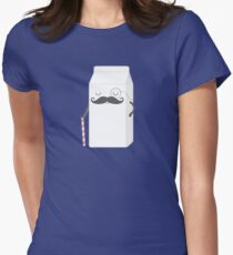 sir milk moustache Womens Fitted T-Shirt