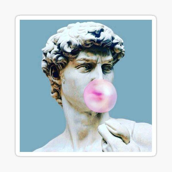 The Statue of David (Michelangelo) with Bubblegum Sticker