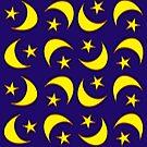 Moon & Stars by pondlifeforme