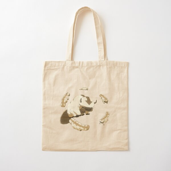 Appa and Baby Sky Bisons Cotton Tote Bag