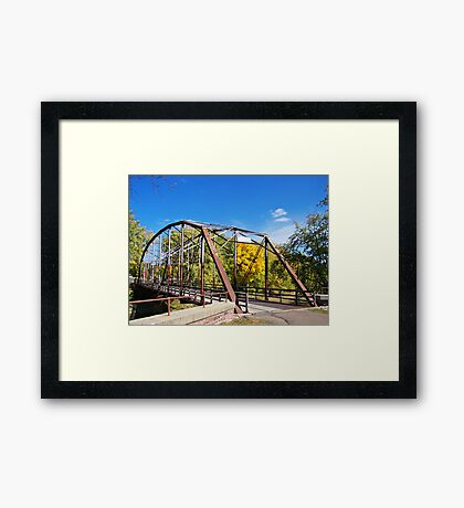 Cherry Rock Bridge Framed Print