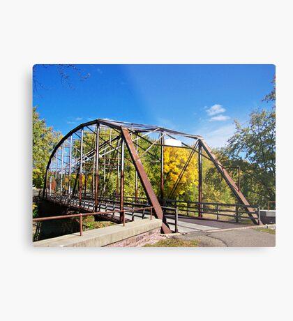 Cherry Rock Bridge Metal Print