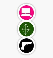 Team Arrow - Colorful Symbols - Weapons Sticker