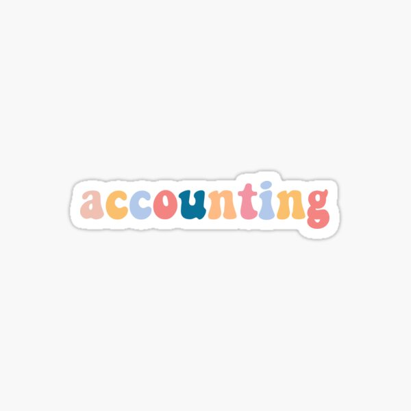 accounting Sticker