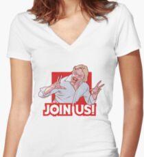 Evil ED from Evil Dead 2 Women's Fitted V-Neck T-Shirt