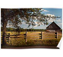 Farmland fencing Poster