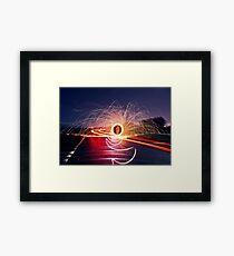 Neon Road Framed Print