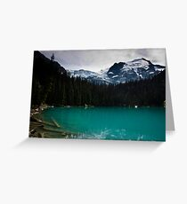 Joffre Lake - The middle Greeting Card