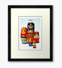Babooshka family Framed Print