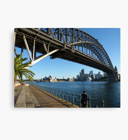 They're good at building bridges in Sydney Canvas Print