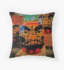 Budda yell Throw Pillow
