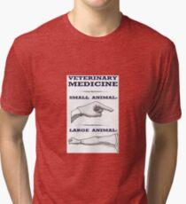 Veterinary Medicine - Large vs. Small Animal Tri-blend T-Shirt