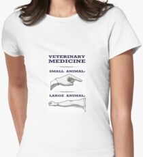 Veterinary Medicine - Large vs. Small Animal Women's Fitted T-Shirt