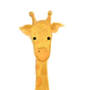 Peek-a-boo Giraffe by natfish