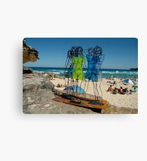 Naked Ladies, Sculptures By The Sea Exhibition 2006 Canvas Print