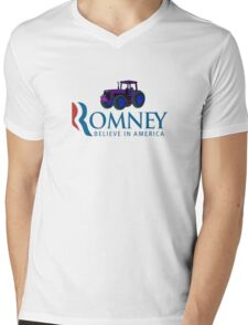 Harvesting Mitt Romney 2012 Mens V-Neck T-Shirt