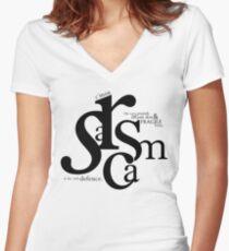 """Sarcasm is my only defense"" - Stiles Stilinski Women's Fitted V-Neck T-Shirt"