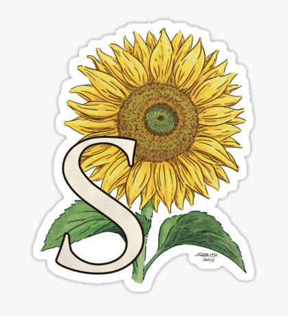 S is for Sunflower Sticker