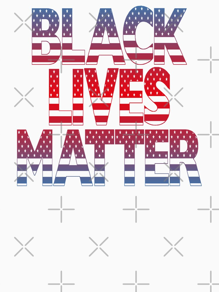 Black Lives Matter (Fight Injustice • Walk With Us Slogan • Red and Blue) by SassyClassyMe