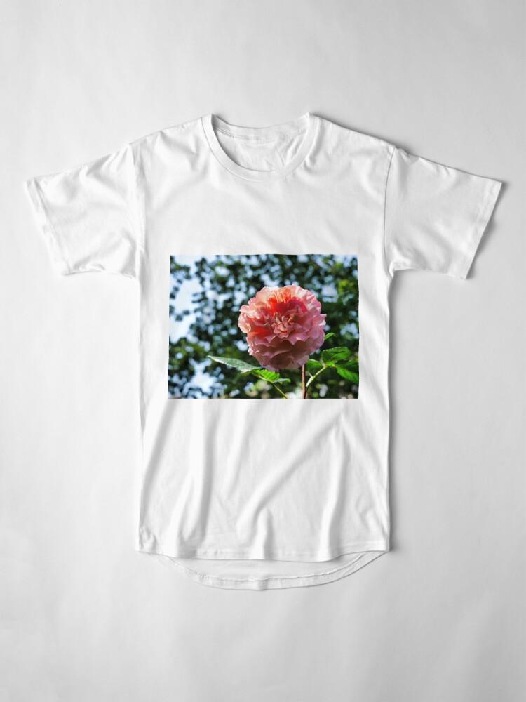 Alternate view of Pink Rose with bokeh Long T-Shirt