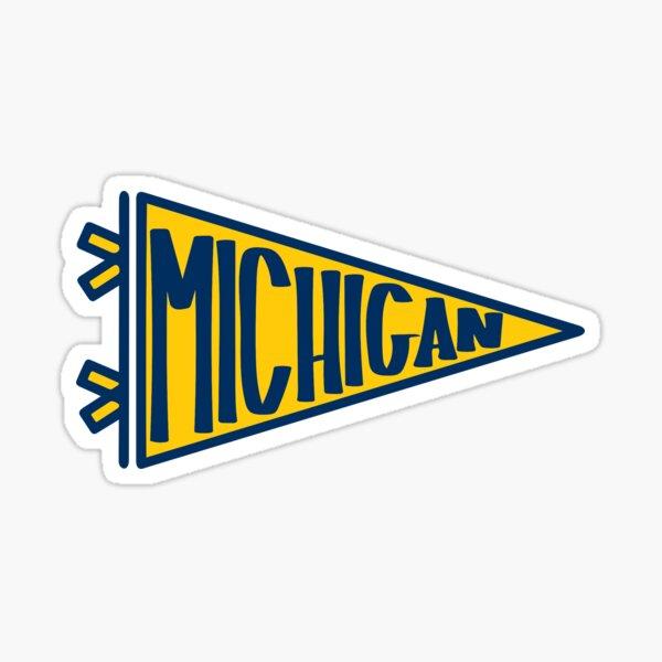 Michigan UMich Pennant Sticker