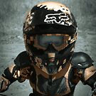 Eyes of a young champion during motocross practice at age 4 by David Owens