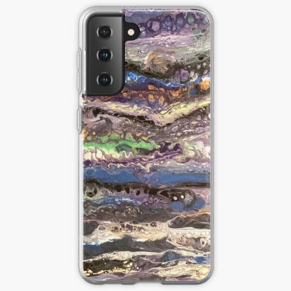 Dirty Pour - Multicolor Layers Horizontal Samsung Galaxy Soft Case