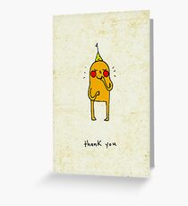 a shy thank you Greeting Card