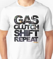 Gas Clutch Shift Repeat T-Shirt