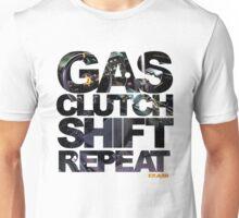Gas Clutch Shift Repeat Unisex T-Shirt