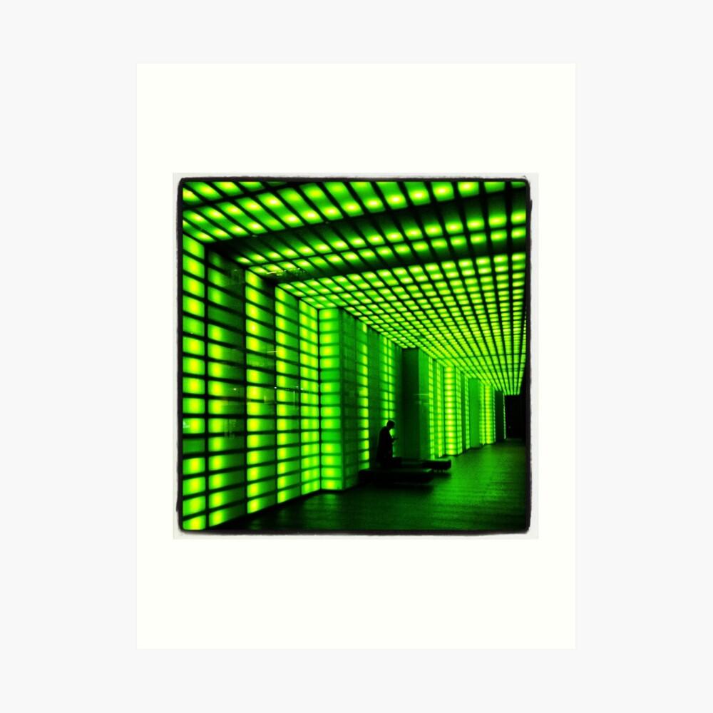 The green tunnel Art Print