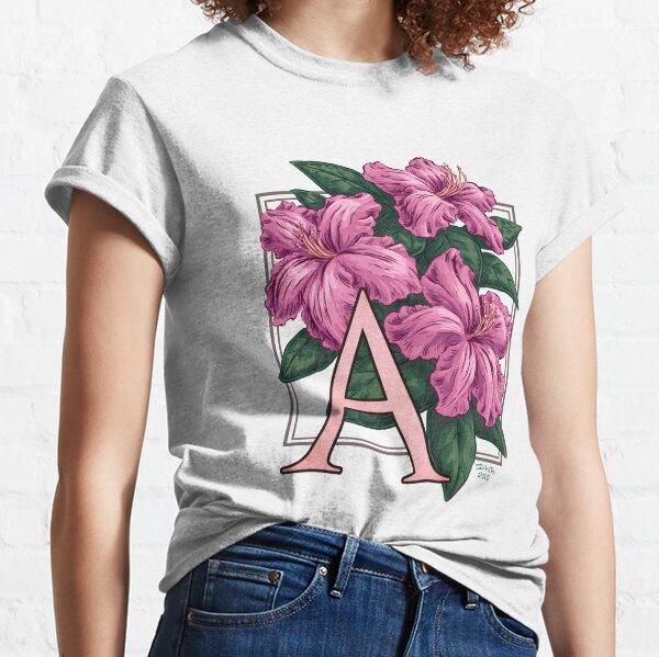 A is for Azalea Flower Monogram Classic T-Shirt