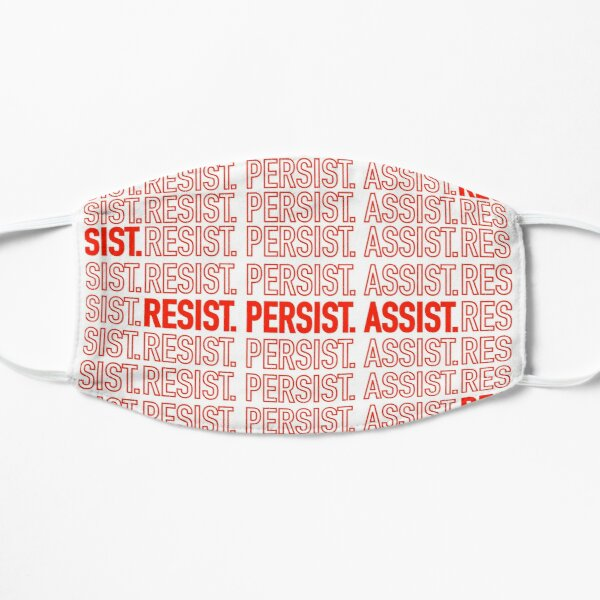 Resist. Persist. Assist. (Black Lives Matter.) Mask