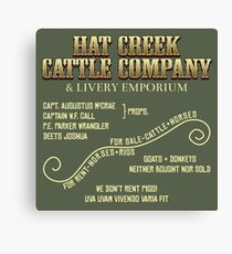 Hat Creek Cattle Company Sign Canvas Print