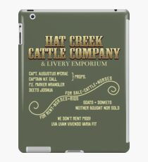 Hat Creek Cattle Company Sign iPad Case/Skin