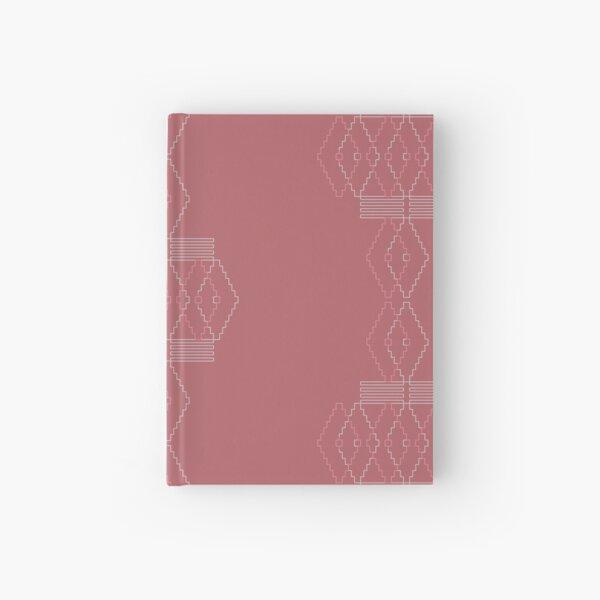 Ethno Muster aus geometrischen Elementen in rose und grau Notizbuch
