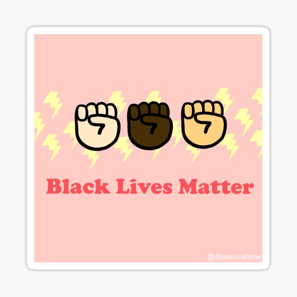 Black Lives Matter Fists Sticker
