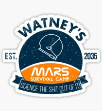Watney's martian survival camp Sticker