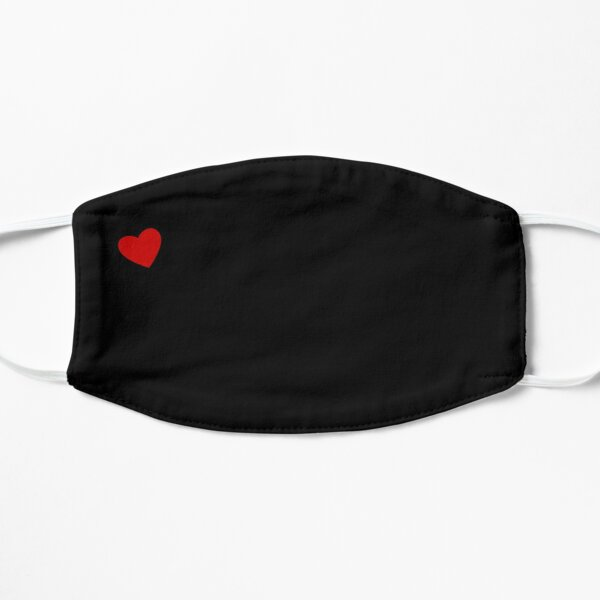 Small Red Heart Black Mask