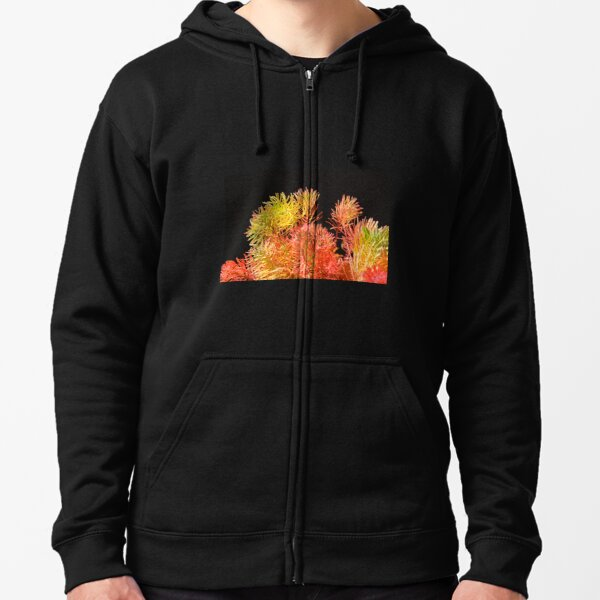 Colored plants that look like pine leaves Zipped Hoodie